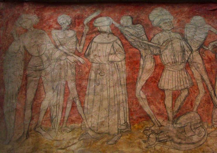 Le ons la mort dans l 39 art roman for Chaise dieu danse macabre